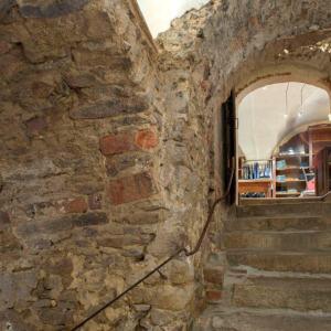 Bild Treppenaufgang aus dem Kellergewölbe